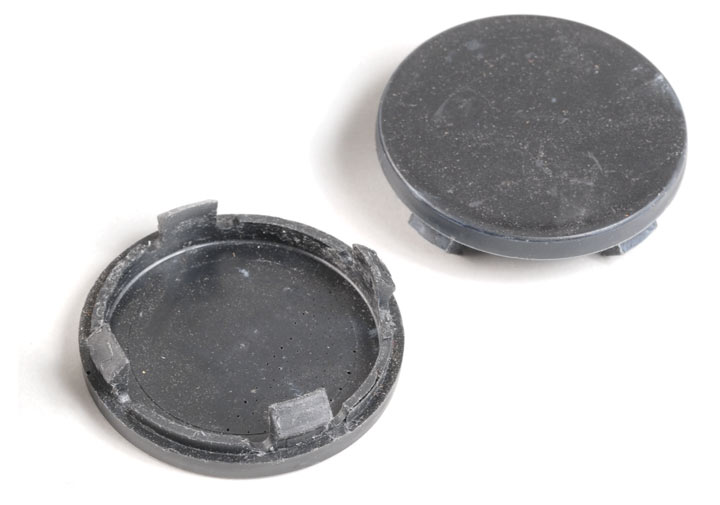 Black Plastic Center Cap For Steel Wheels