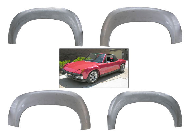 Gt Steel Fender Flares, Set Of Four; 914 1970-76