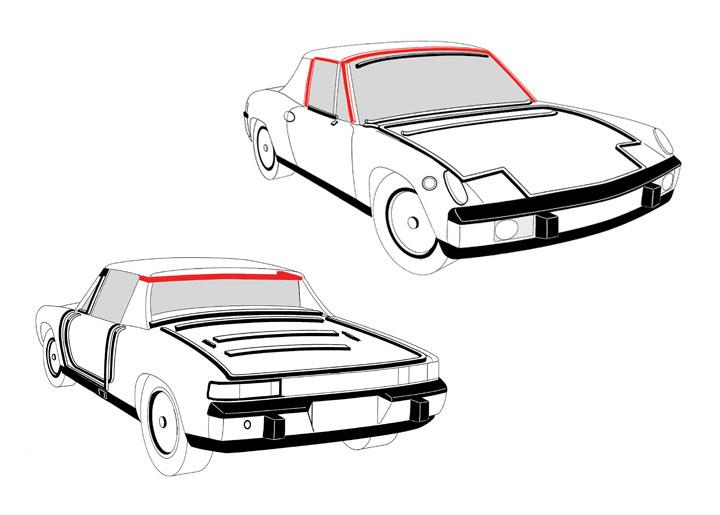 porsche 914 targa top parts