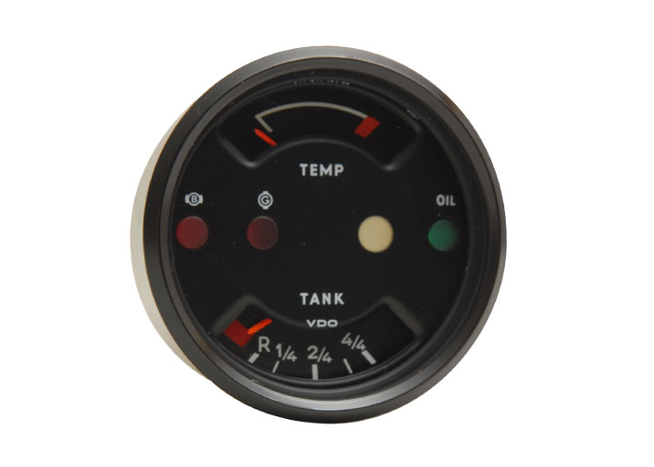 Rebuilt Temperature Fuel Gauge; 914; 1974-76