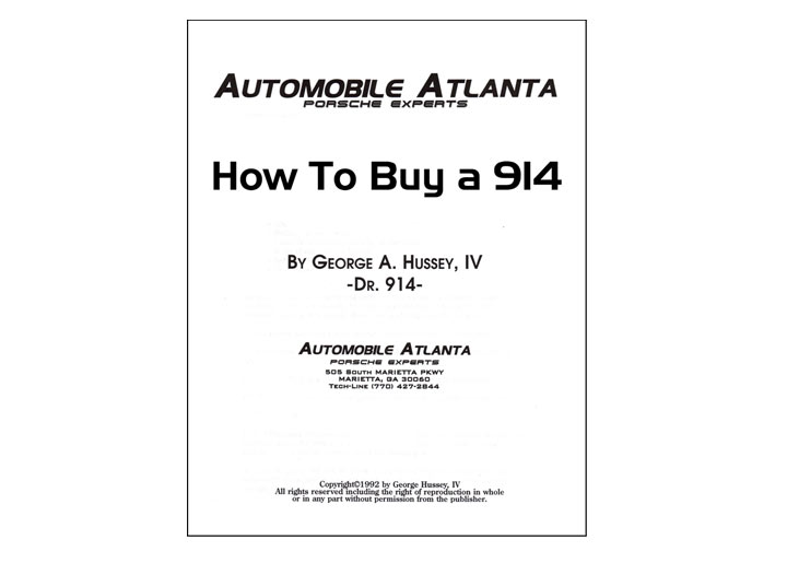 How To Buy A Porsche; 914 1970-76