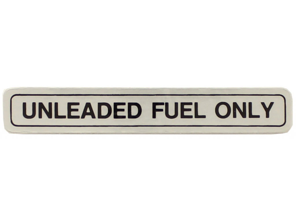 Unleaded Fuel Decal