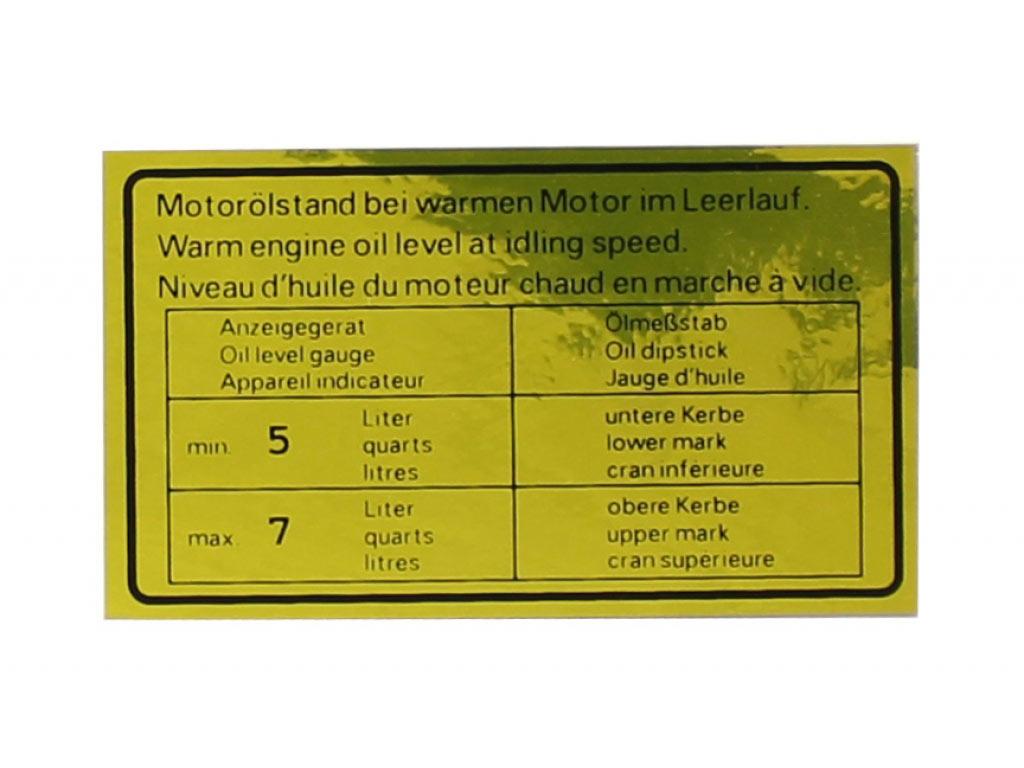 Engine Oil Sign
