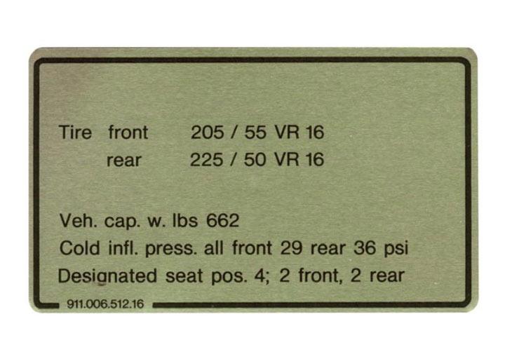 Tire Pressure Plate