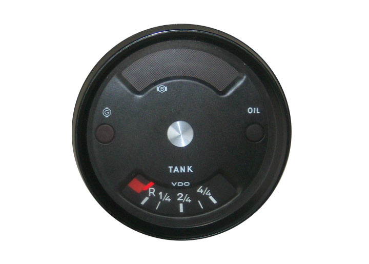 Rebuilt Temperature Gauge With Silver Center Button; 914; 1970-74