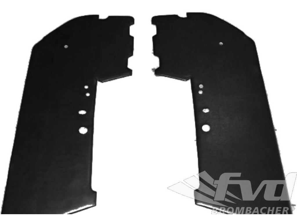 Carbon Door Panel Kit (left And Right) Leather Black