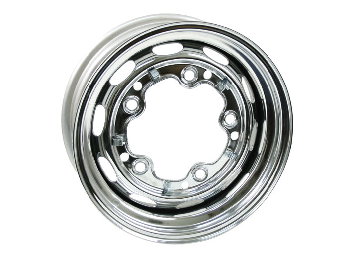 Chrome Steel Wheel, 15x5.5 5-lug