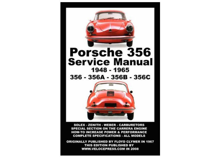 Porsche 356 Owners Workshop Manual 1948-1965, Book