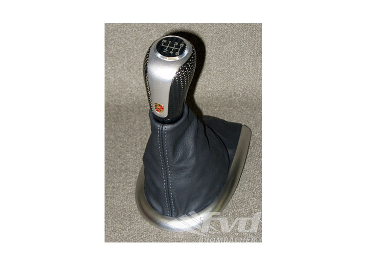 Leather Shift Boot And Carbon/aluminum Shift Knob (6-speed) Box...