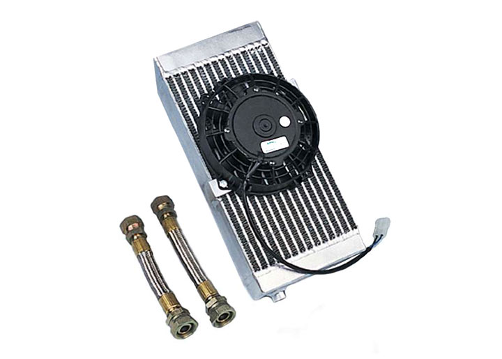 Fender Mount Oil Cooler With Electric Fan