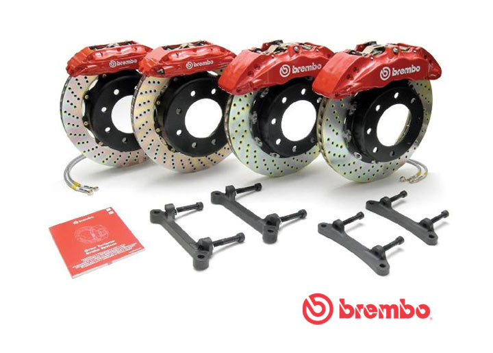 Brembo Gtp Big Brake Kit, 930/911 Turbo 1980-89, Red Calipers (...