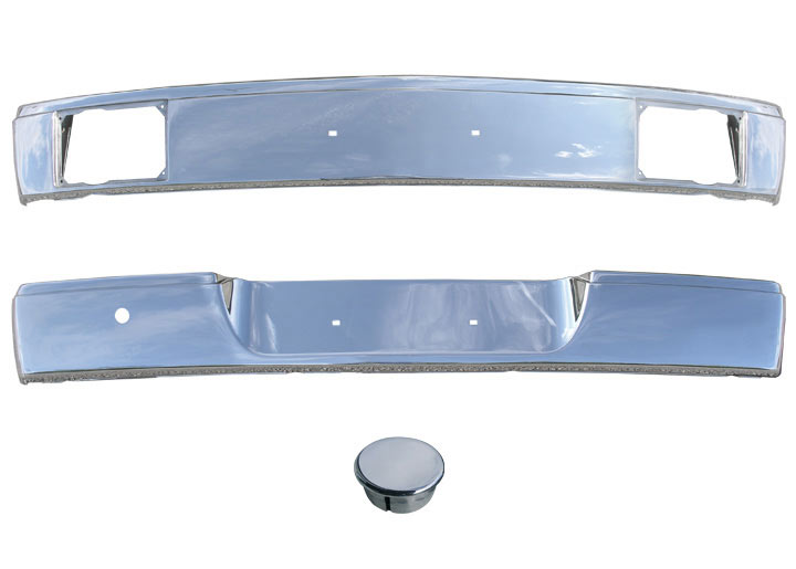 Stainless Chrome Front/rear Bumper Set