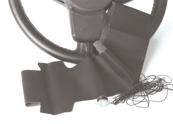 Steering Wheel Recovering Kit 4 Spoke, Black; 944, 944s, 944t 1...