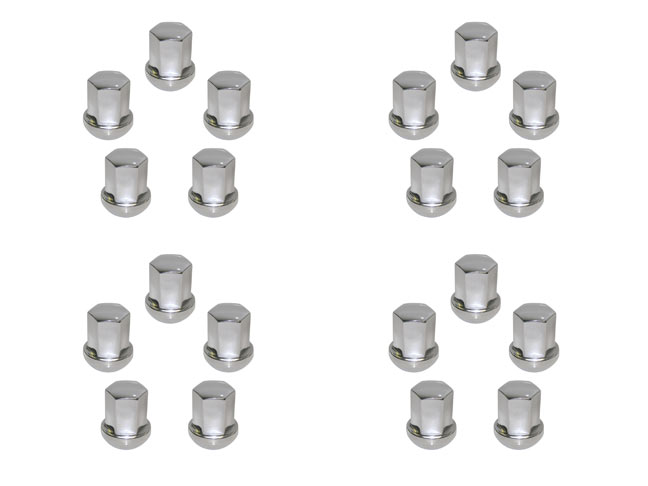 Chrome Steel Lug Nut, Set Of 20