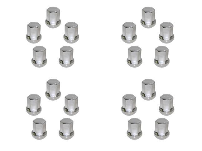 Chrome Steel Lug Nut, Set Of 20