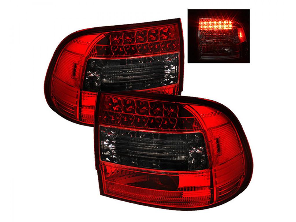 Spyder auto led tail lights red smoke