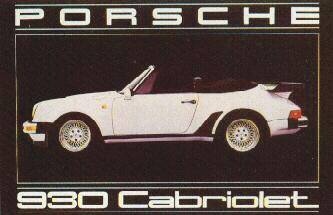 Porsche 930 Cabriolet Poster