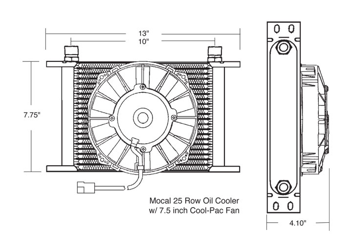 Oil Cooler With Fan Pac. 914-4