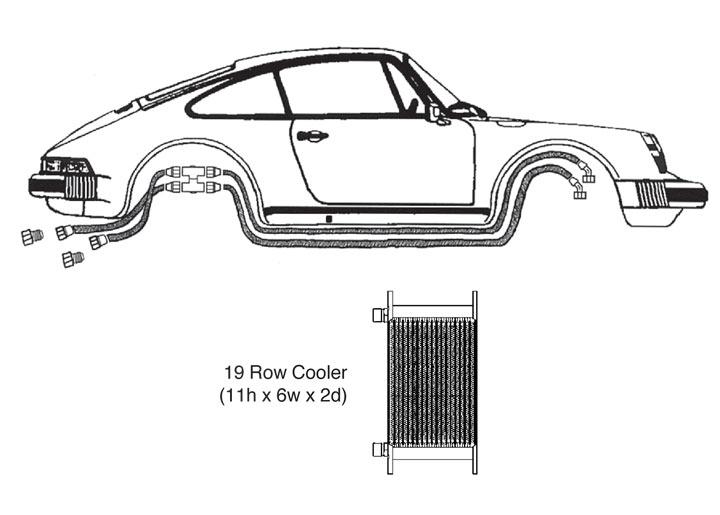Oil Cooler Kit, 19 Row, 911 Pre-'77