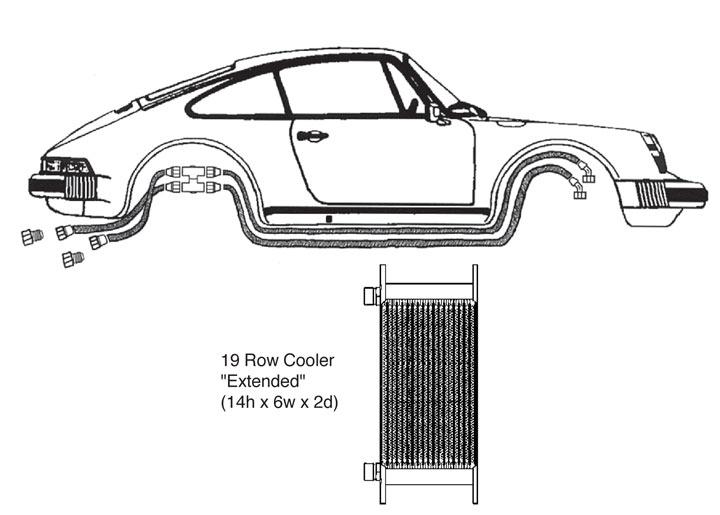 Oil Cooler Kit, 19 Row