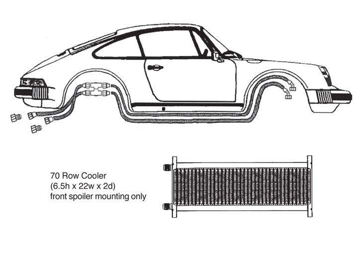 Oil Cooler Kit, 70 Row 911  Pre-'77
