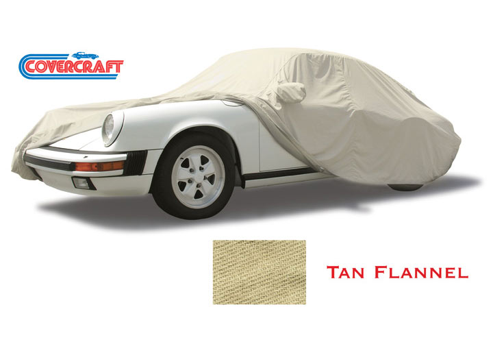 Covercraft Tan Flannel Indoor Car Cover All Except Cayenne