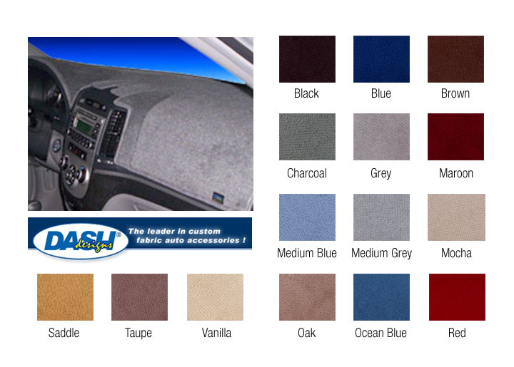 Dash Designs Plush Velour Dashboard Cover