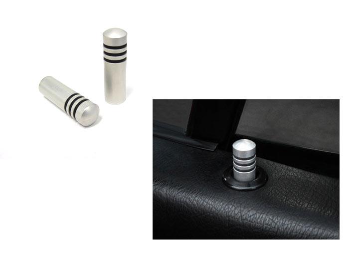 Rennline Aluminum Door Lock Pins Set, Silver