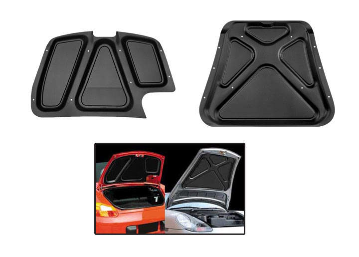 Front And Rear Boxster Hood Liner Set; 2001-04