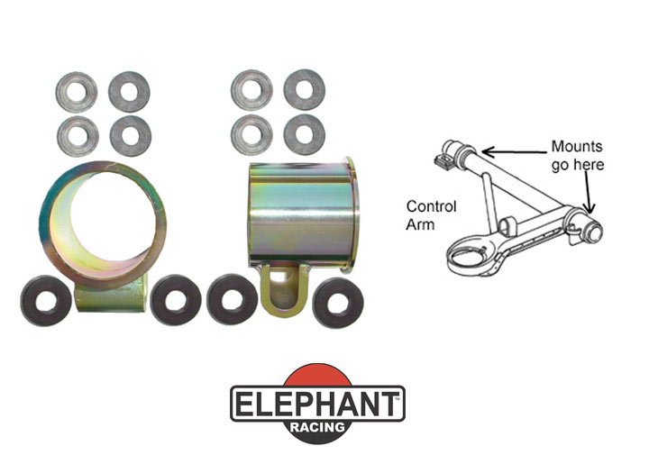Elephant Racing Low Friction Control Arm Mounts, Set