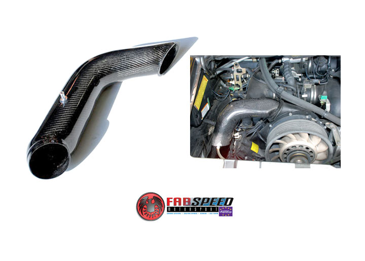 Fabspeed 964 Carbon Fiber Heater Duct Bypass Pipe