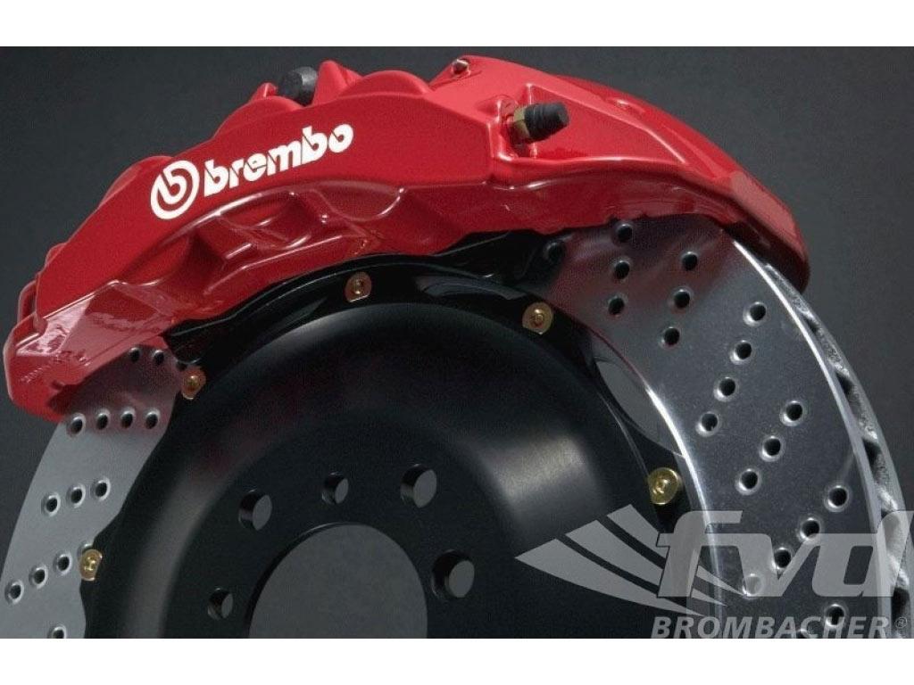 FOR PORSCHE 911 3.4 CARRERA FRONT CROSS DRILLED BRAKE DISCS BREMBO BRAKE PADS