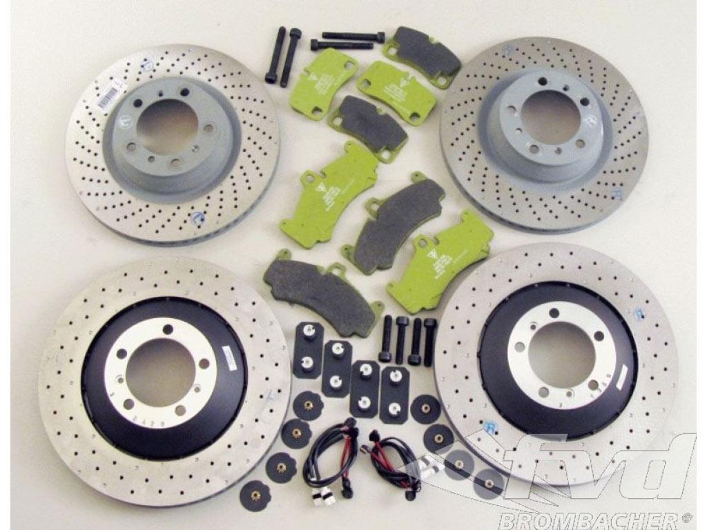 For Porsche 911 Carrera 997 Front Brake Kit Front Rotors Pads Wear Sensors
