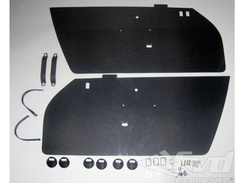 Carbon Door Panel Kit (left And Right) Door Pull Black Includes...