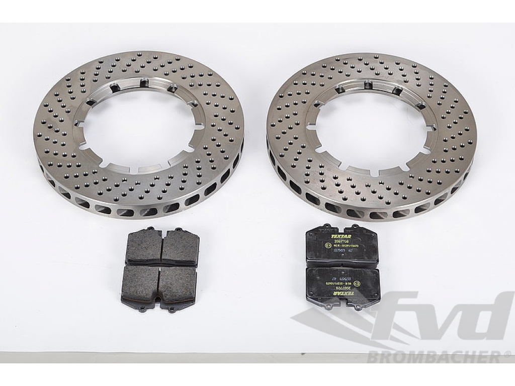 NON-Turbo  with Pads 996 Wear Sensors SEBRO  Front Cross Drilled Rotors 911