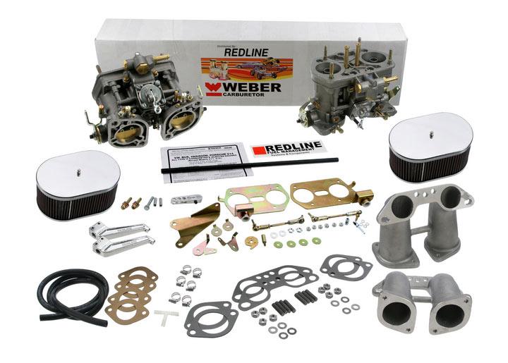 Redline / Weber Carburetor Dual Weber 40 Idf Conv. Kit