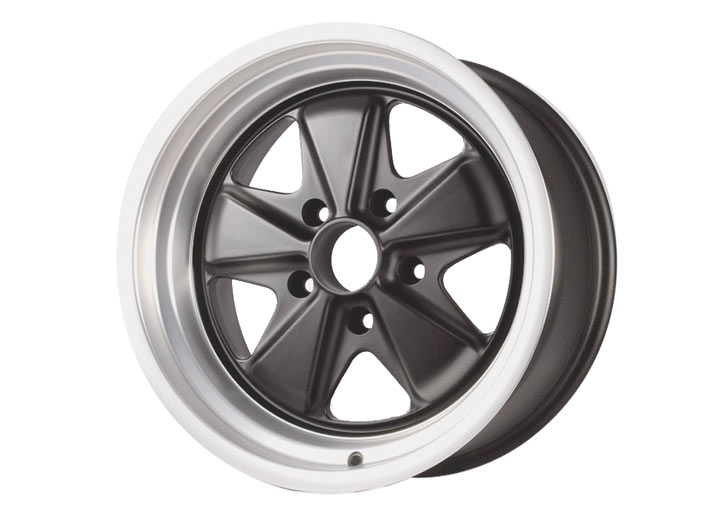 Linea Corse Fox Wheel, 17x9 Satin Black Center With Silver Lip,...