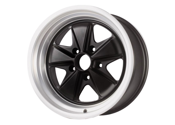 Linea Corse Fox Wheel 17x7.5 Gloss Black Center With Polished L...