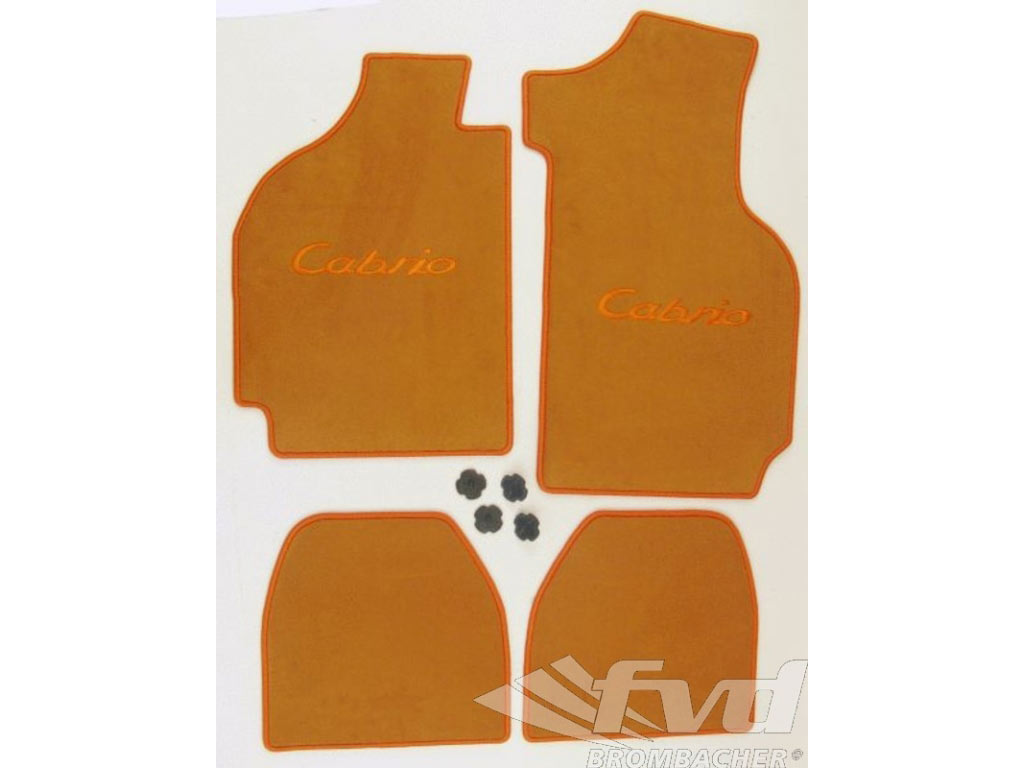 Floor Mat Set (4pc.) Color Safran, Stiching And Logo Cabrio In ...