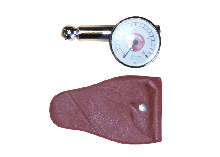 Reproduction Messko Psi Tire Gauge, Red Pouch