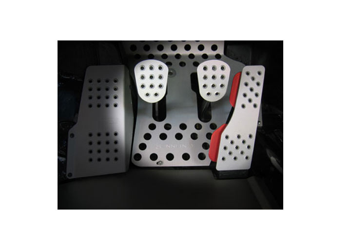 Rennline 3-piece Perforated Aluminum Pedal Set, Manual Trans, S...