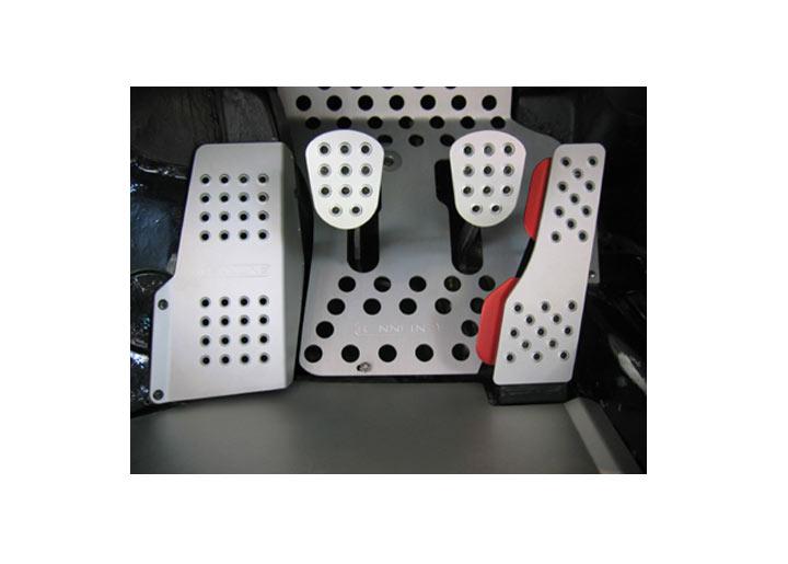 Rennline 4-piece Perforated Aluminum Pedal Set, Manual Trans, S...