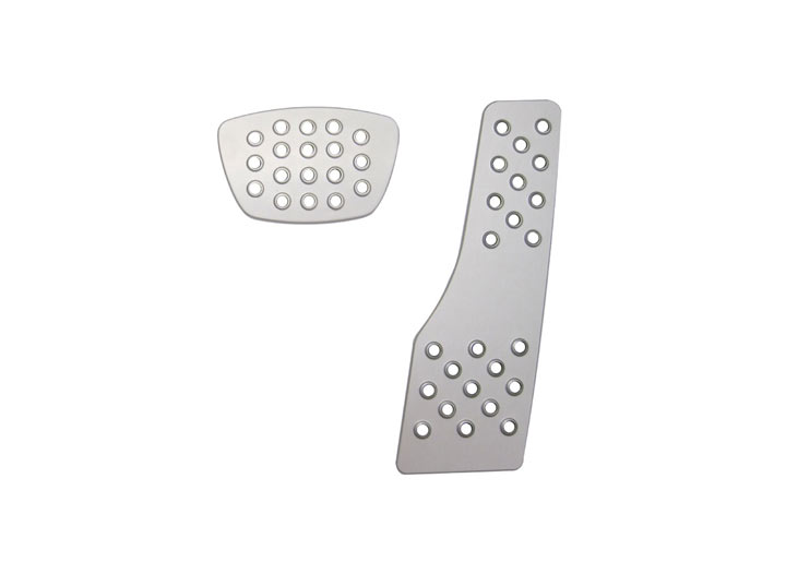 Rennline 2-piece Perforated Aluminum Pedal Set, Auto Trans, Sil...