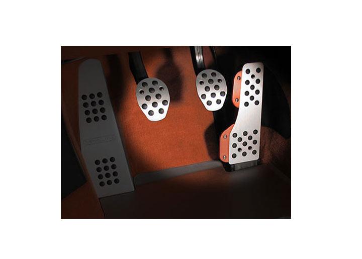 Rennline 3-piece Rubber Grip Aluminum Pedal Set, Manual Trans, ...