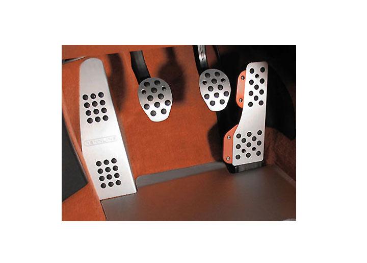 Rennline 4-piece Rubber Grip Aluminum Pedal Set, Manual Trans, ...
