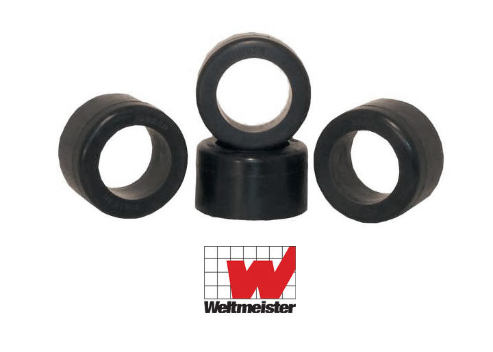 Weltmeister Rear Spring Plate Rubber Bushings, Set Of Four