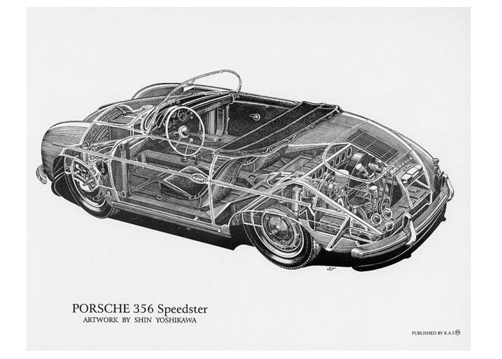 Cutaway Poster, 356 Speedster