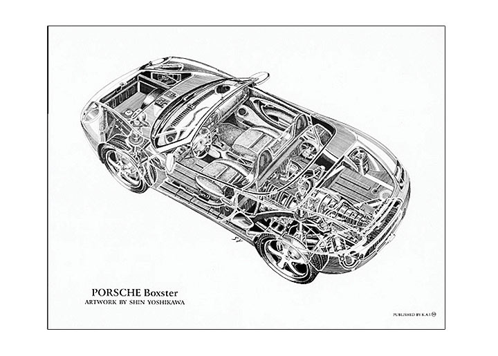 Boxster Cutaway Poster