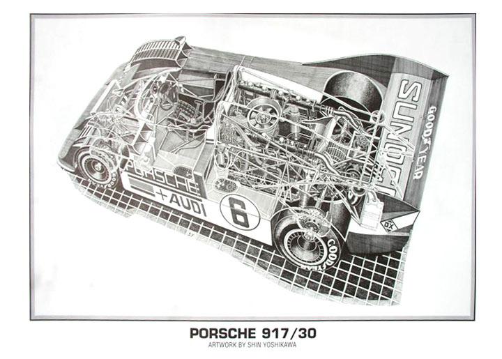 Porsche 917/30 Cutaway Poster