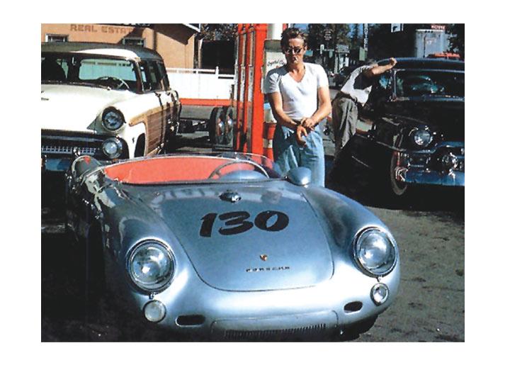 Poster James Dean Porsche